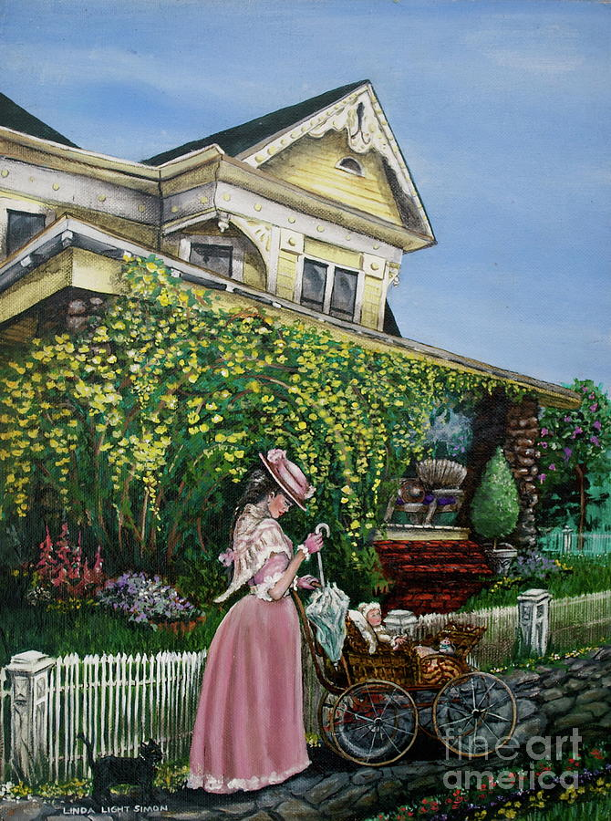 House Painting - Behind The Garden Gate by Linda Simon