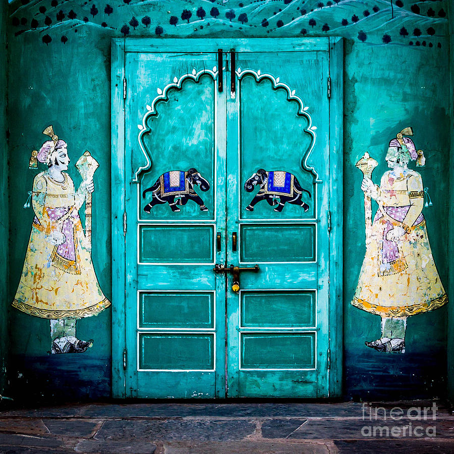 India Photograph - Behind The Green Door by Catherine Arnas