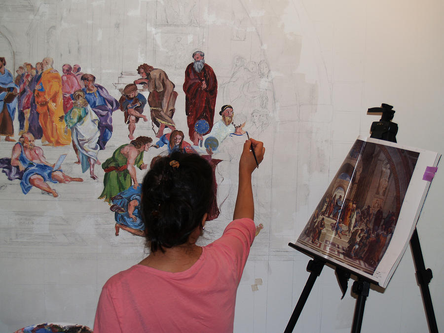 Behind The Scenes Photograph - Behind The Scenes Mural 4 by Becky Kim