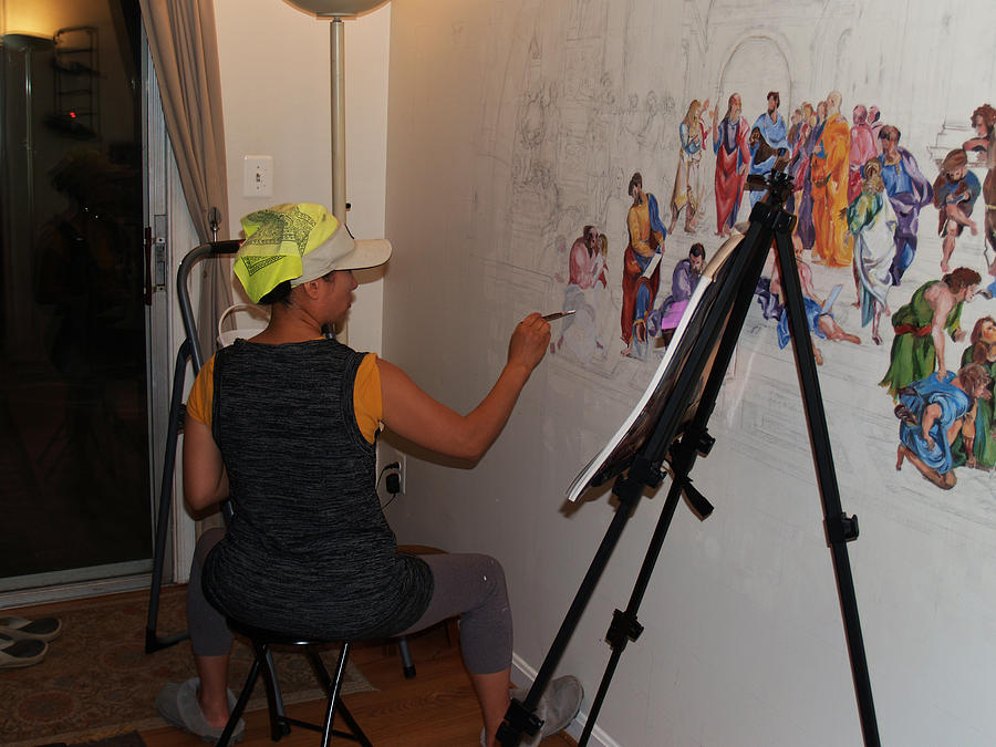 Behind The Scenes Photograph - Behind The Scenes Mural 5 by Becky Kim