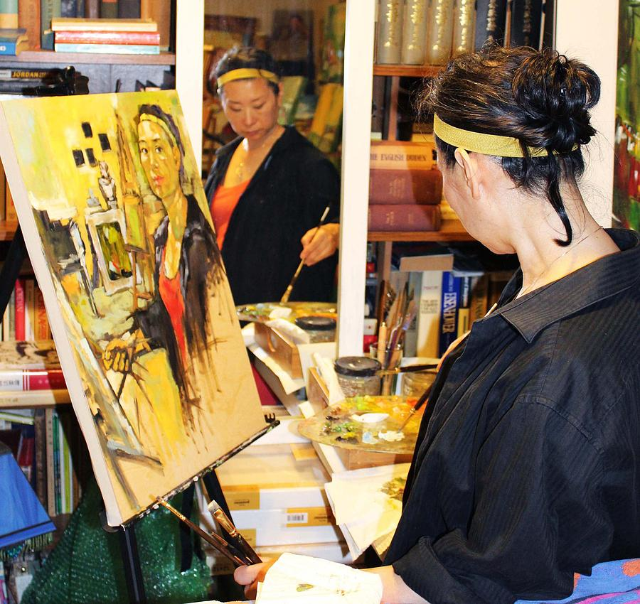 Behind The Scene Painting - Behind The Scenes - Painting Self Portraits by Becky Kim