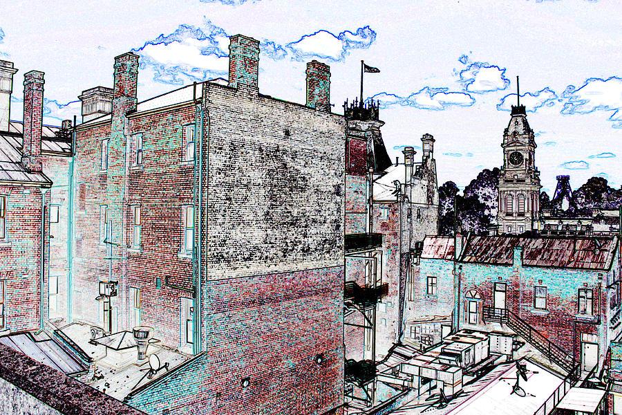 Bendigo Digital Art - Behind The Shamrock by John Monteath