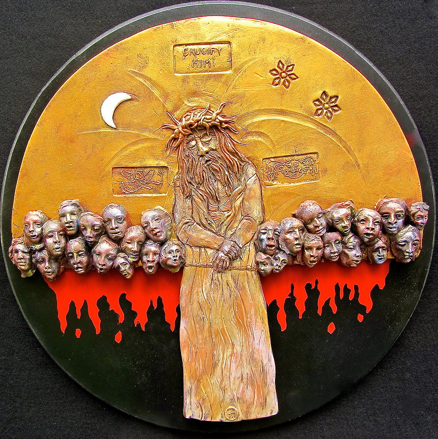 Jesus Ceramic Art - Behold The Man by Gary Wilson