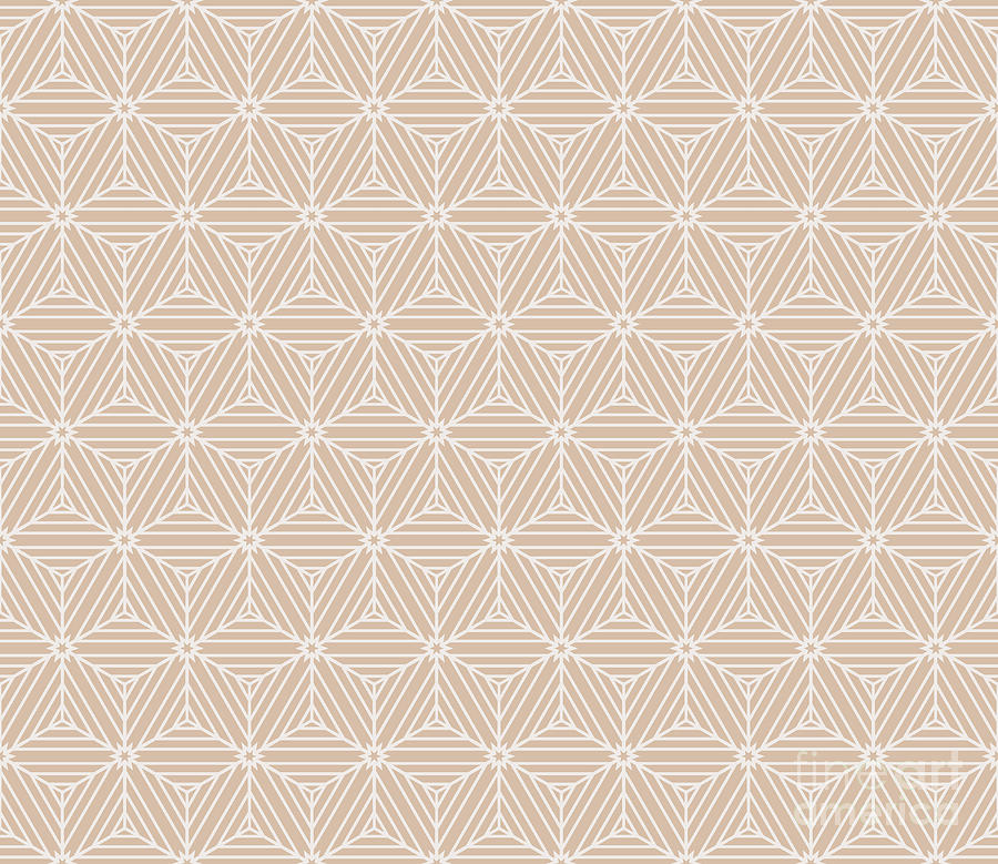 Simple Digital Art - Beige Color Seamless Texture Of Cubes by Mademoiselle De Erotic