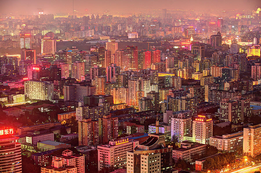 Beijing Buildings Density Photograph by Tony Shi Photography