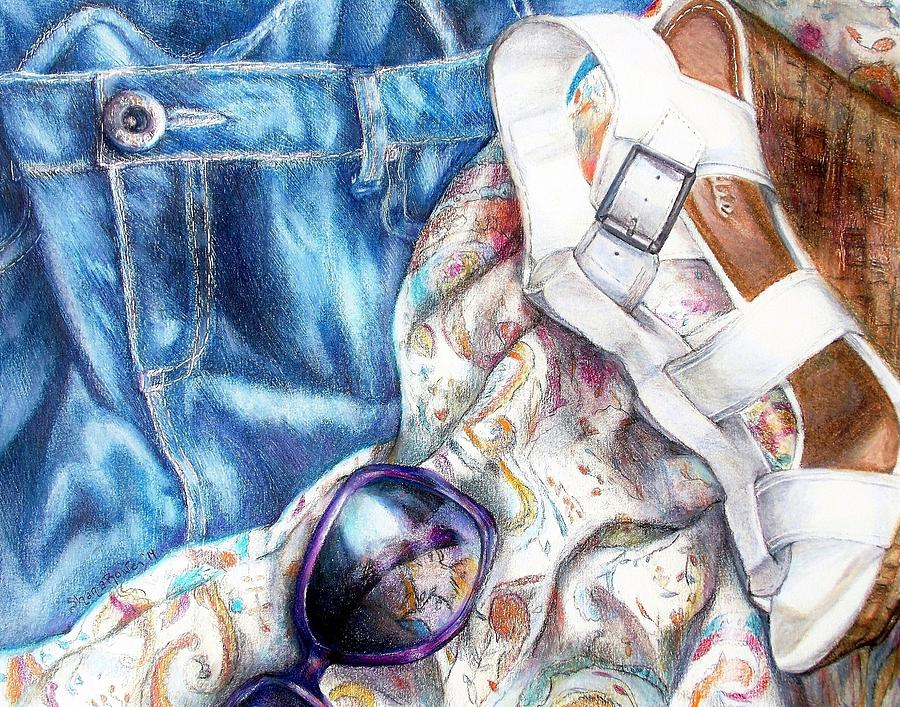 Jean Painting - Being A Girl by Shana Rowe Jackson