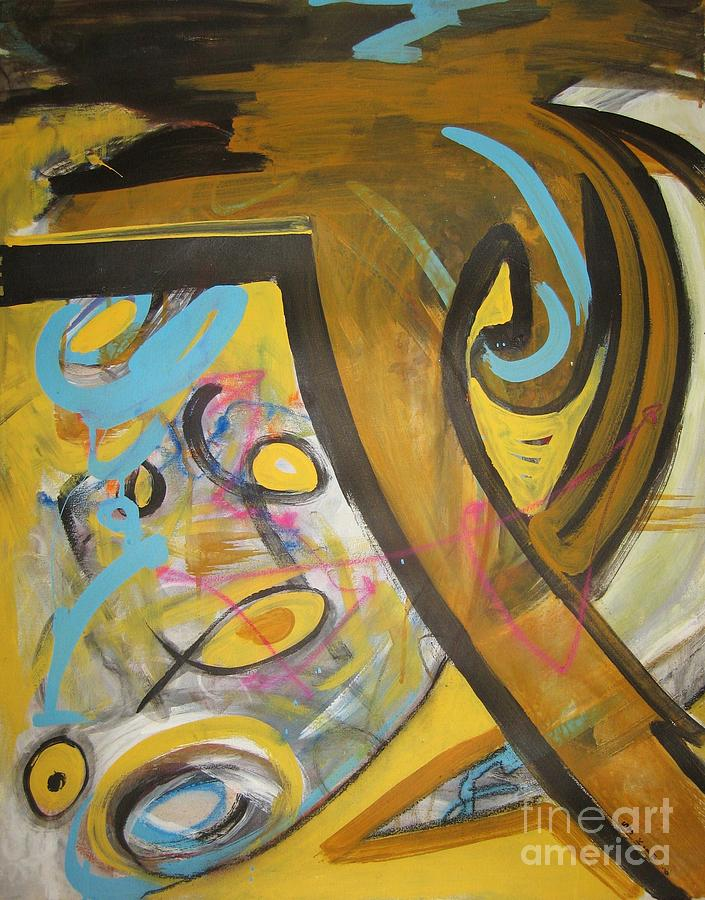 Being easy original abstract colorful figure painting for for Original abstract paintings for sale