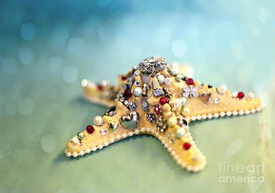 Starfish Photograph - Bejeweled Starfish by Sylvia Cook