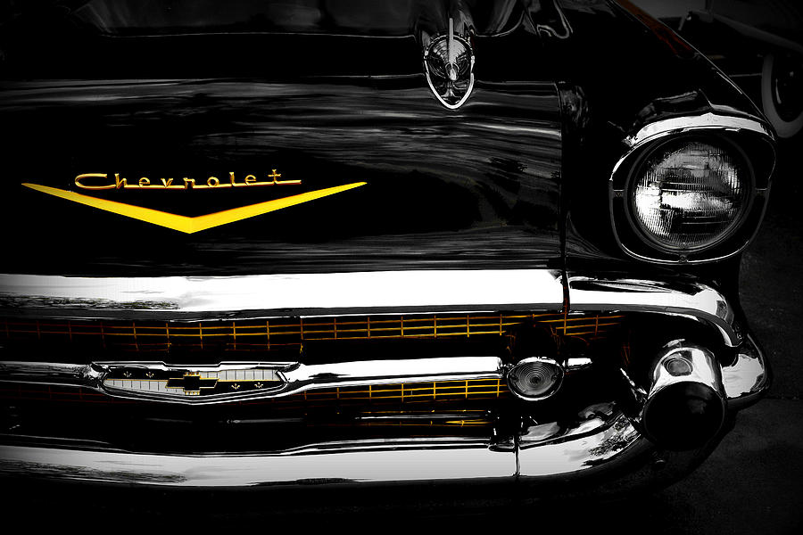 57 Chevy Photograph - Bel Air Frontal by Tim Wintjen