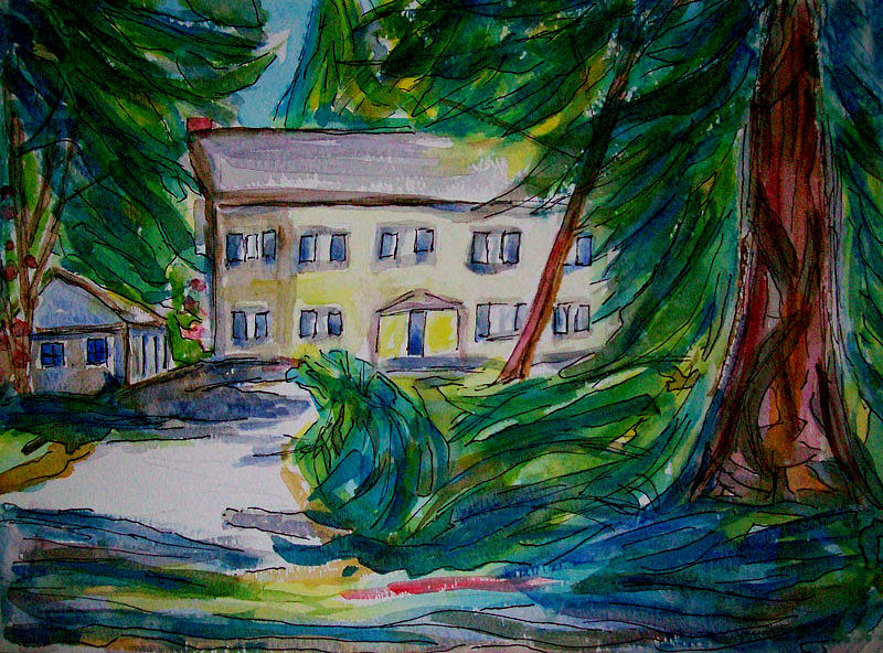 Bellevue Painting - Bel Red Bridle Trails Neighborhood 3 by Allen Forrest
