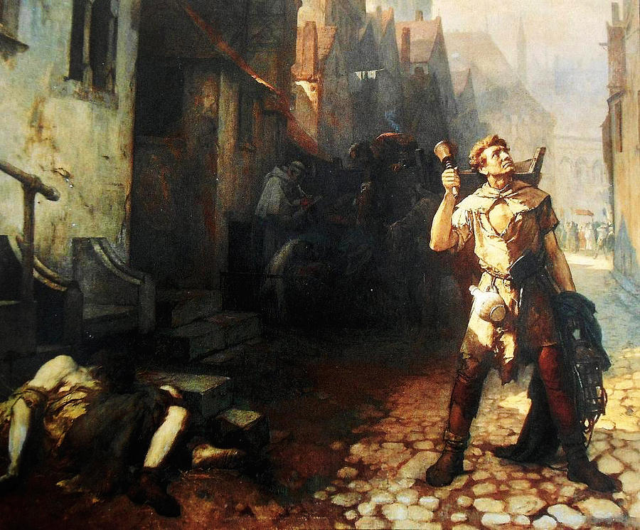 Belgian Ferdinand Pauwels The Plague In Ypres Painting By