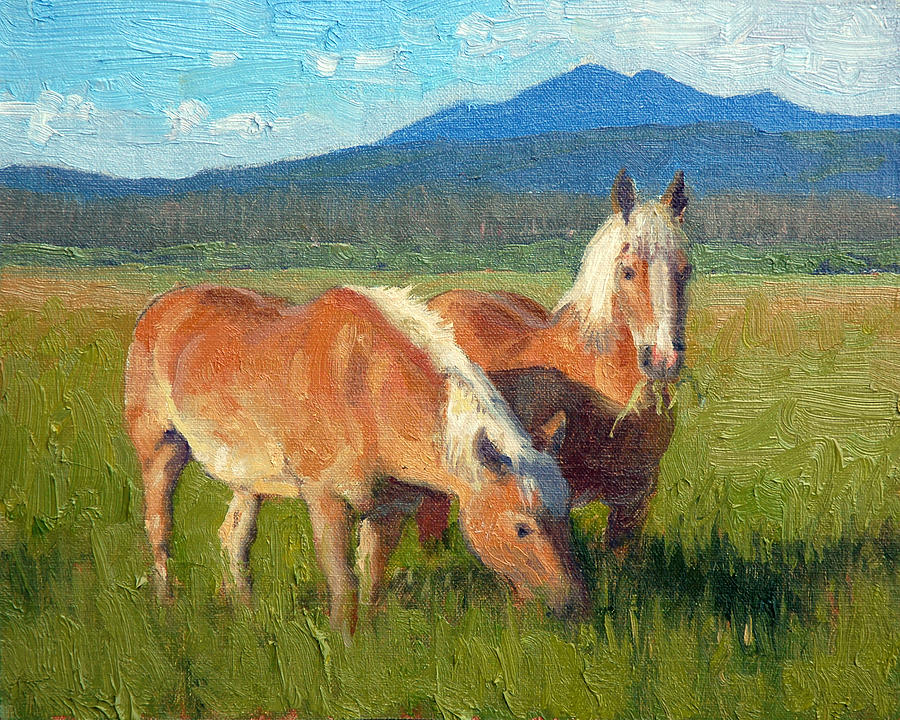 Horses Painting - Belgians by Armand Cabrera