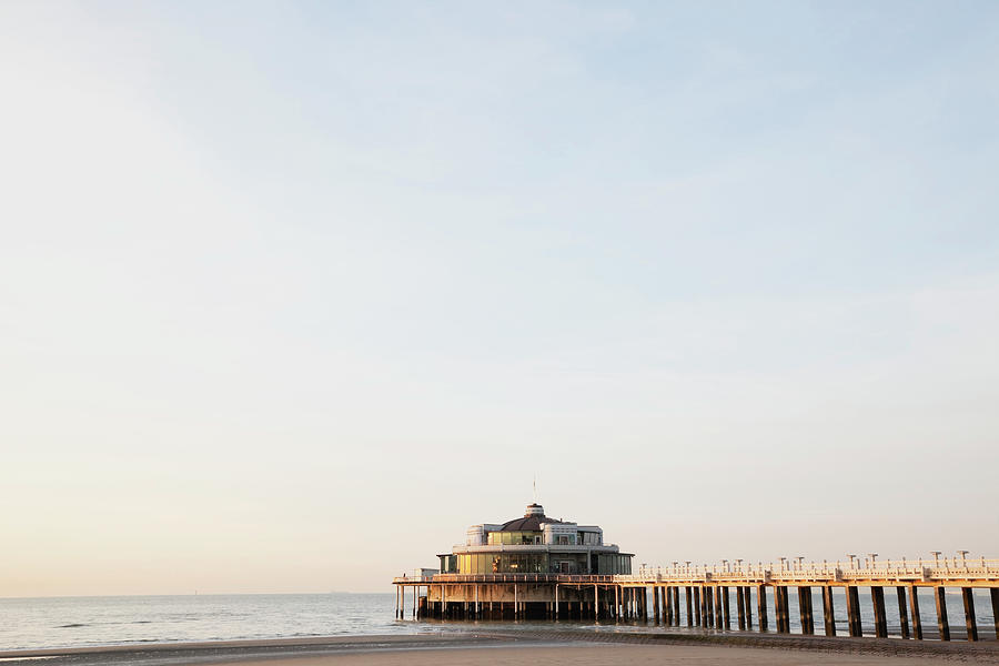 Belgium, Blankenberge, View Of Pier At Photograph by Westend61