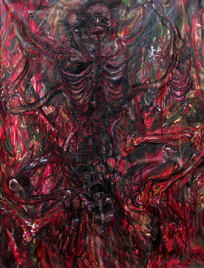 Belial-evil Demiurge Painting by Safir Rifas