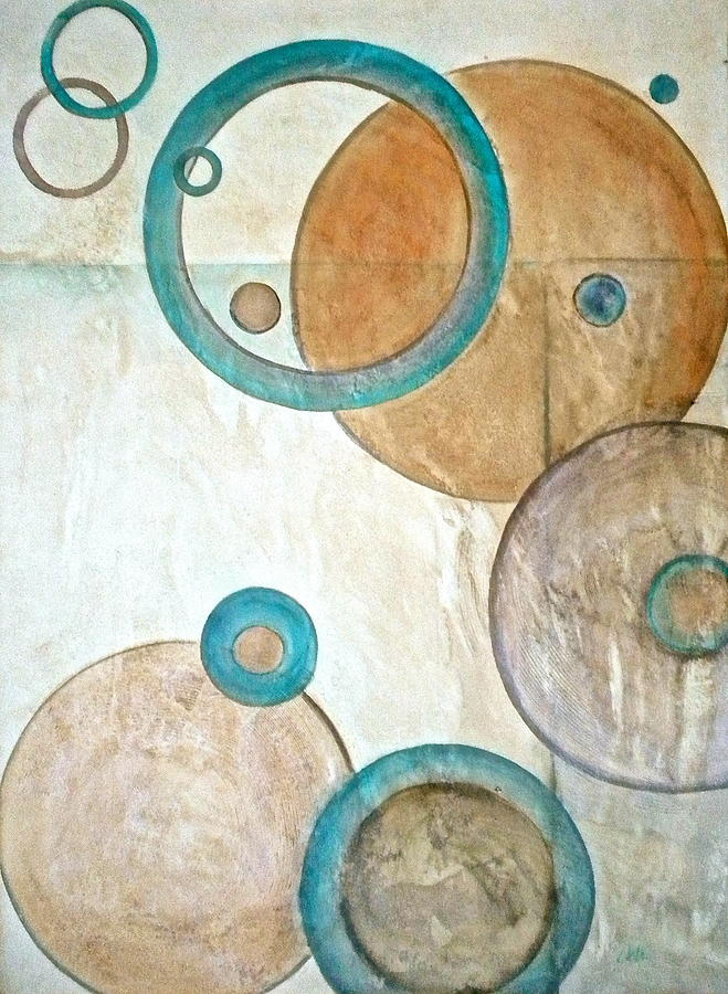 Belief In Cirlces Painting - Belief In Circles by Debi Starr