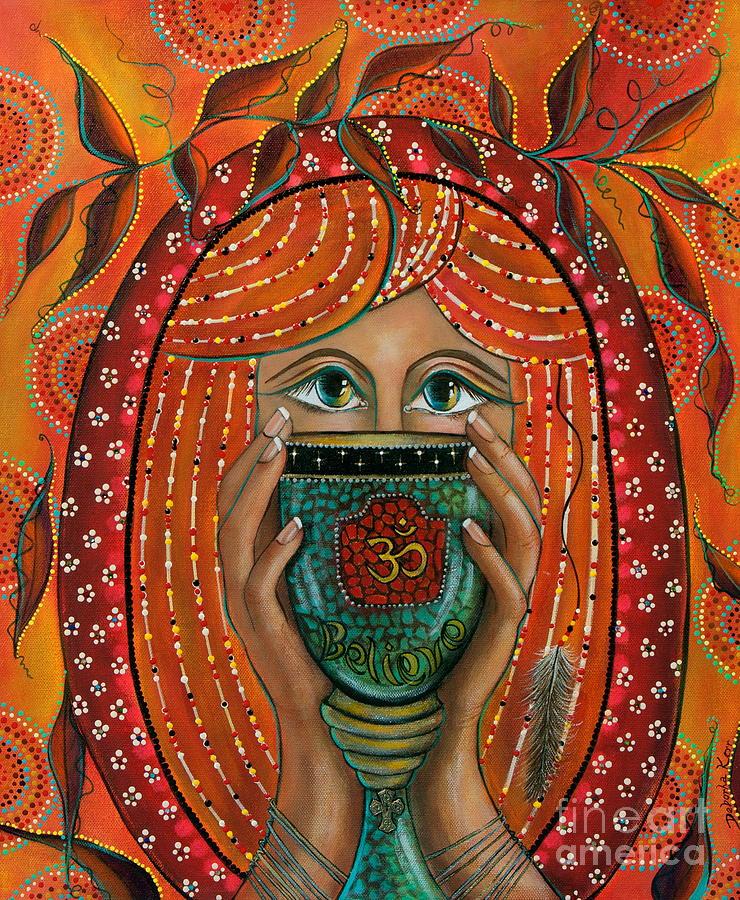 Aum Painting - OM by Deborha Kerr