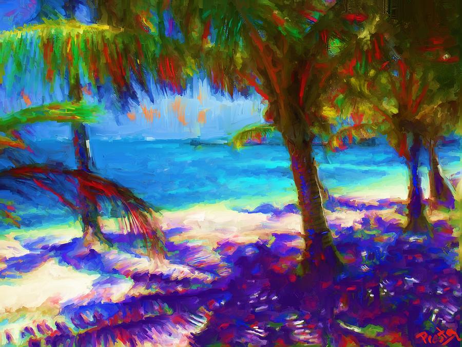 Belize Beach Painting - Belize Breeze by Preston Sandlin