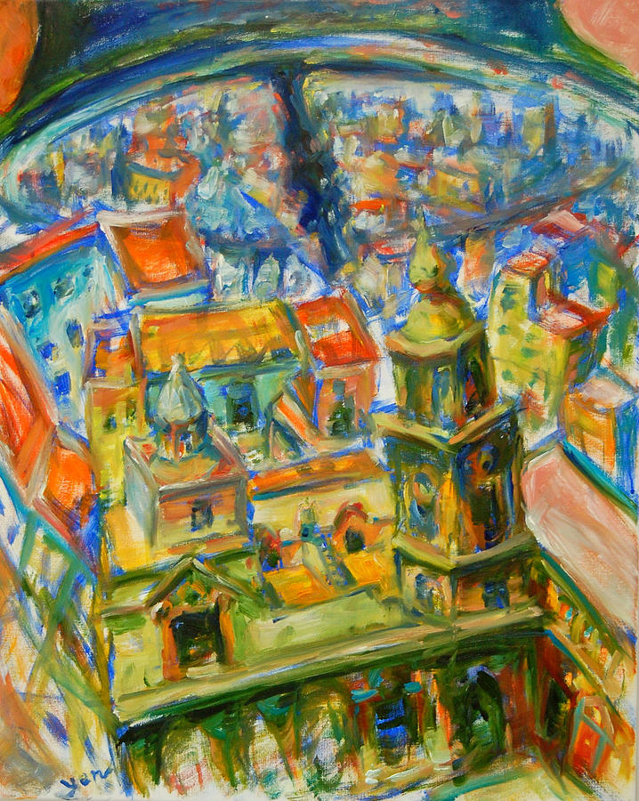 Spain Cadiz Painting - Bell City by Yen