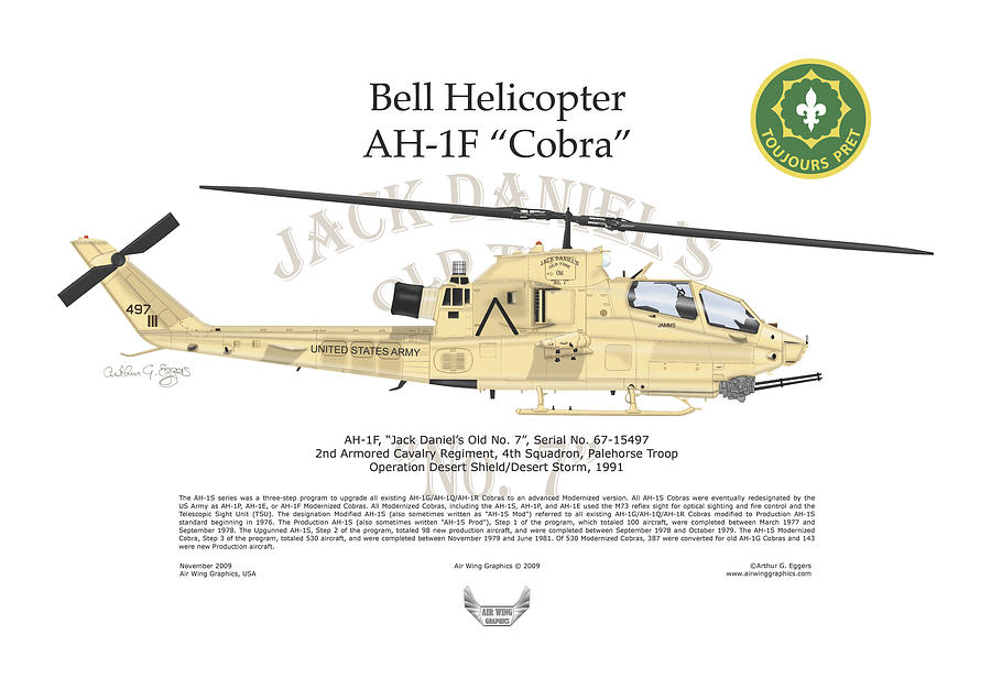 Bell Helicopter Digital Art - Bell Helicopter Ah-1f Cobra by Arthur Eggers