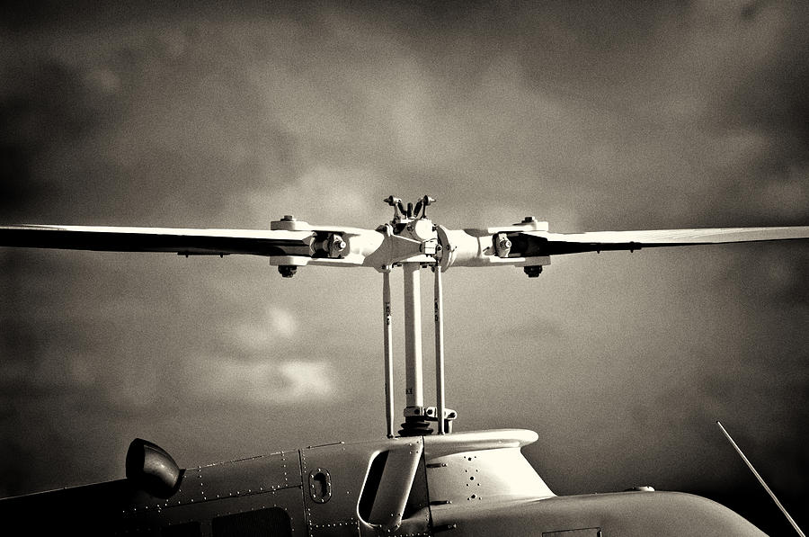 Helicopter Photograph - Bell Rotor by Patrick M Lynch
