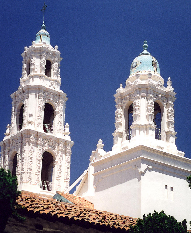 Bell Tower Photograph - Bell Towers by Mary Bedy