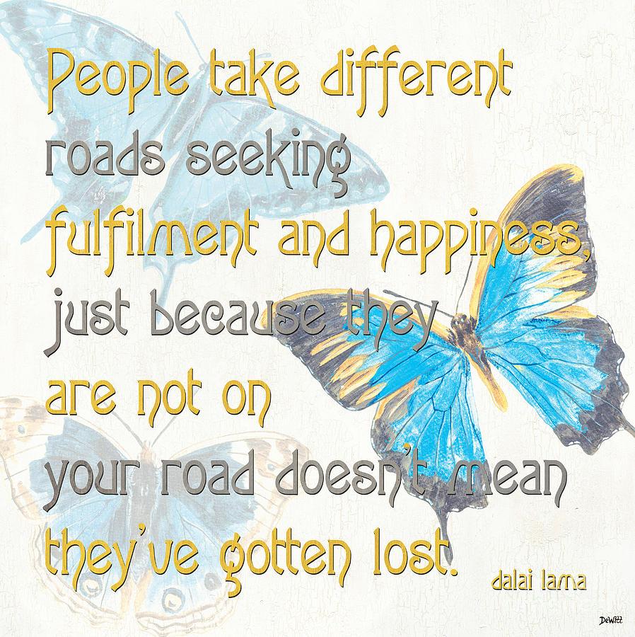 Type Painting - Bella Butterflies 2 by Debbie DeWitt