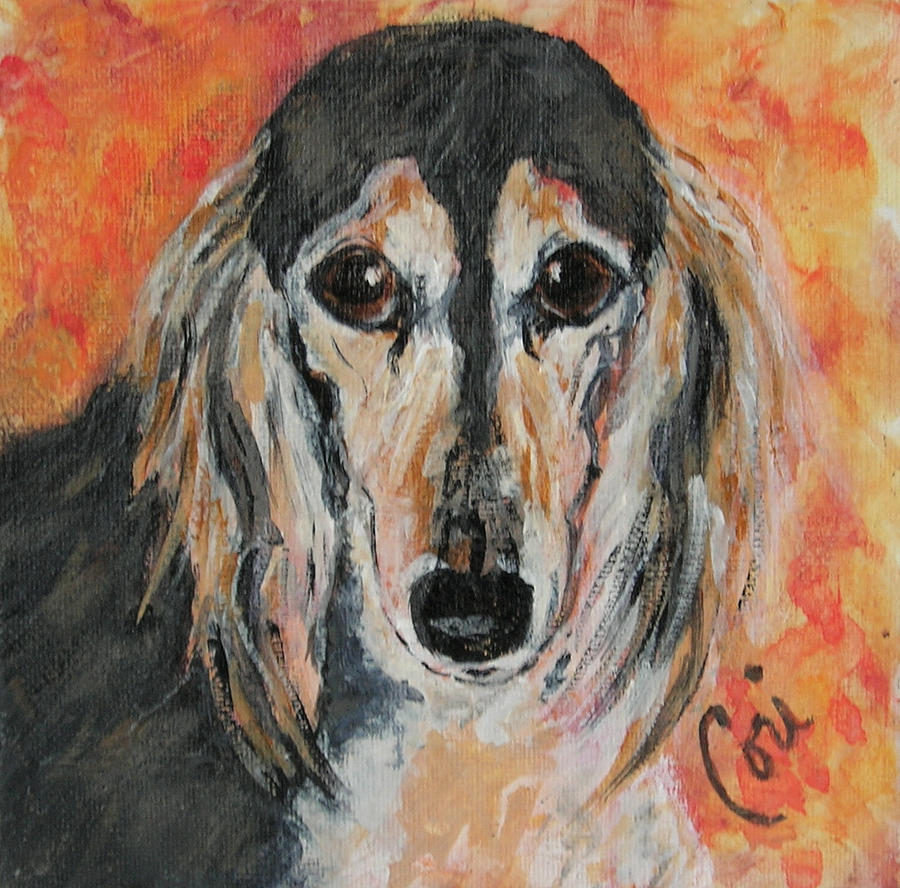 Saluki Painting - Bella by Cori Solomon