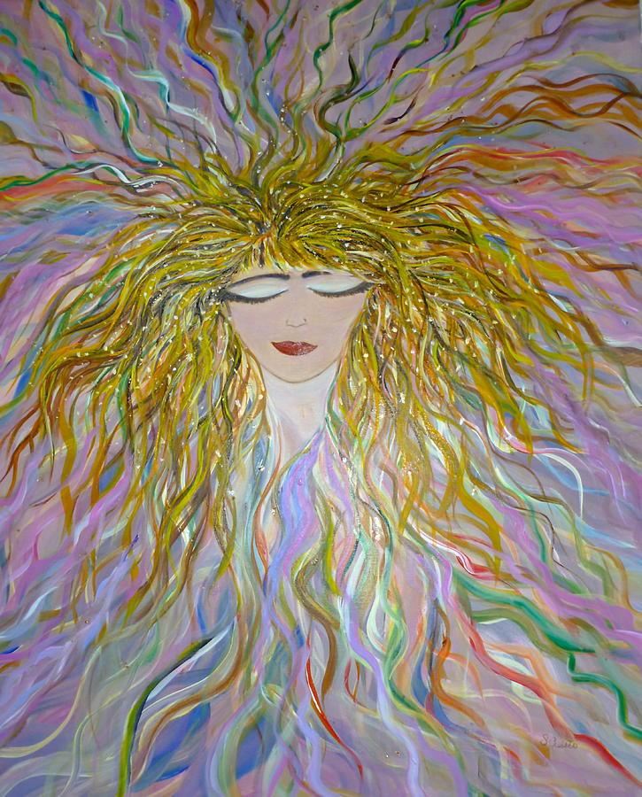 Pretty Woman Painting - Bella El by Sara Credito