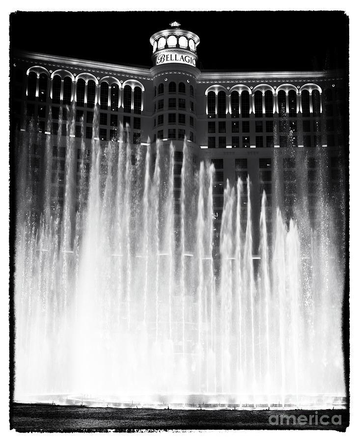 Bellagio Fountains Photograph - Bellagio Fountains I by John Rizzuto