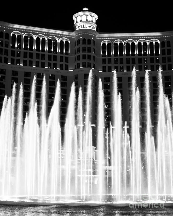 Bellagio Fountains Photograph - Bellagio Fountains IIi by John Rizzuto