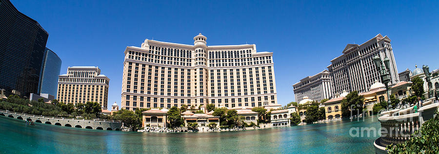 Bellagio Resort And Casino Panoramic Photograph by Edward Fielding