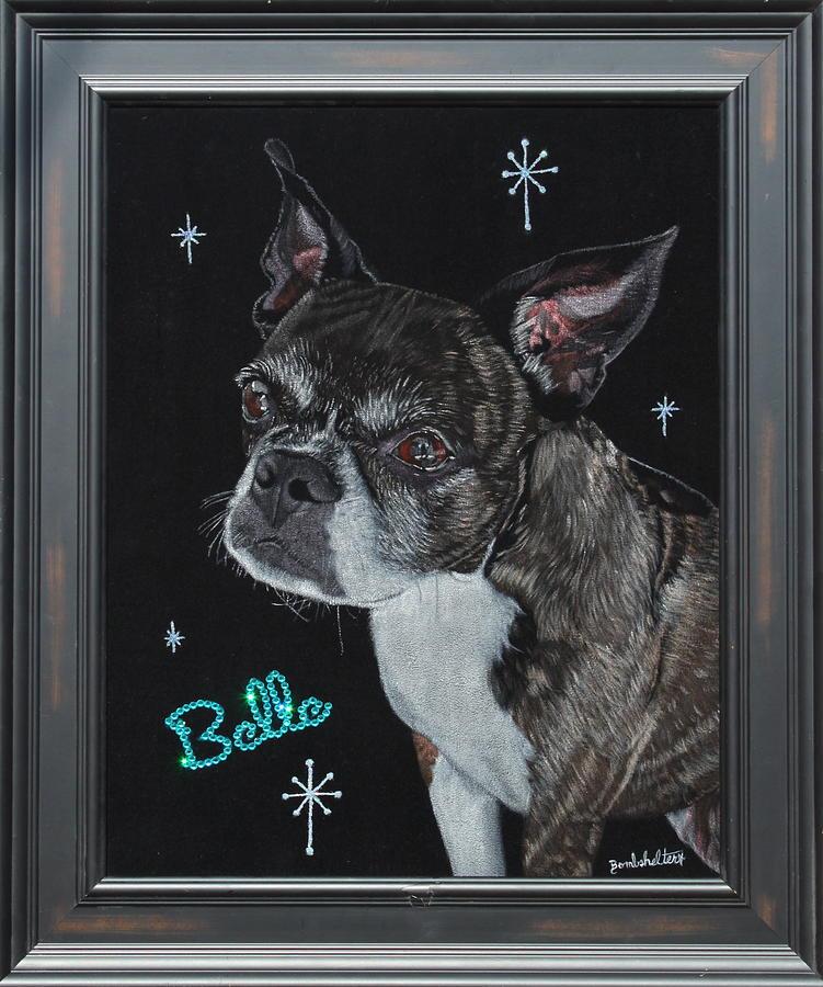 Black Painting - Belle Black Velvet Painting by Diane Bombshelter