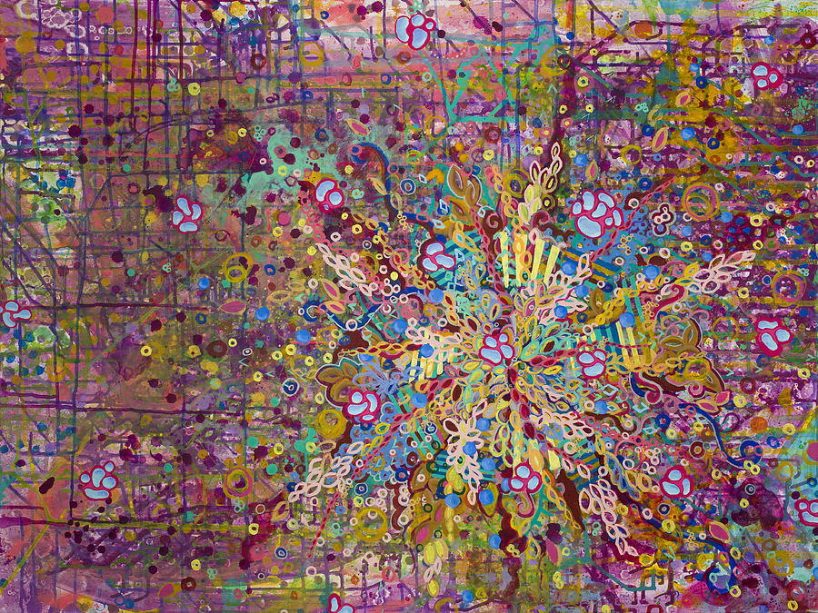 Abstract Painting - Belle Cell by Angela Canada-Hopkins