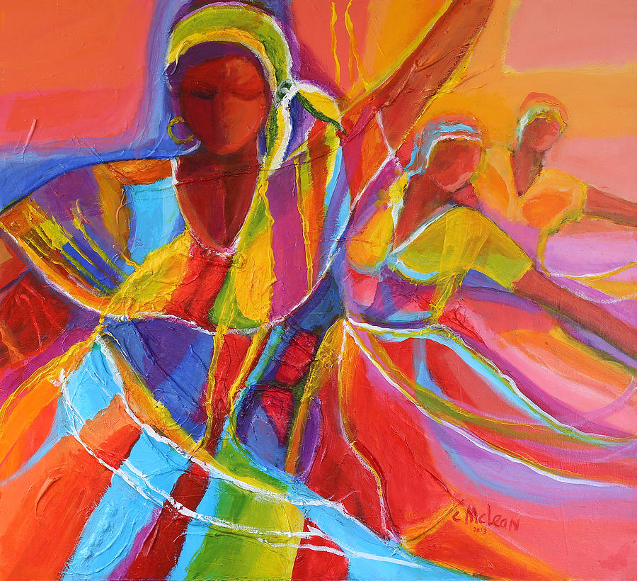 Abstract Painting - Belle Dancers by Cynthia McLean