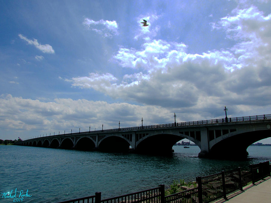 Detroit Photograph - Belle Isle Bridge Detroit by Michael Rucker