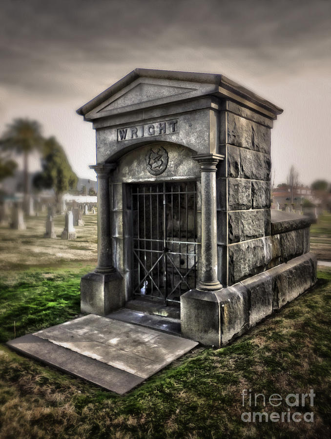 Bellevue Photograph - Bellevue Cemetery Crypt - 03 by Gregory Dyer