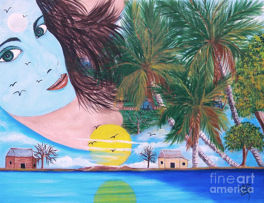 Belleza En Mi Tierra Painting by Iris  Mora