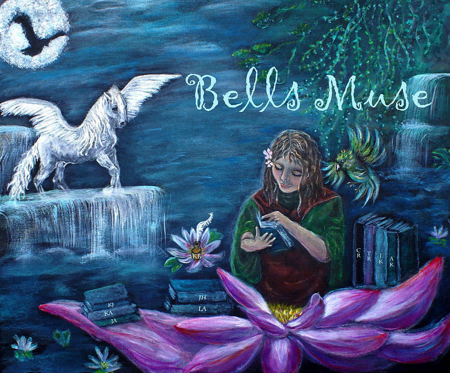 White Horse Painting - Bells Muse  by The Art With A Heart By Charlotte Phillips