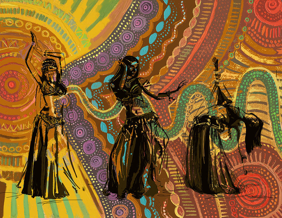 Belly Dancer Motifs And Patterns Painting By Corporate Art