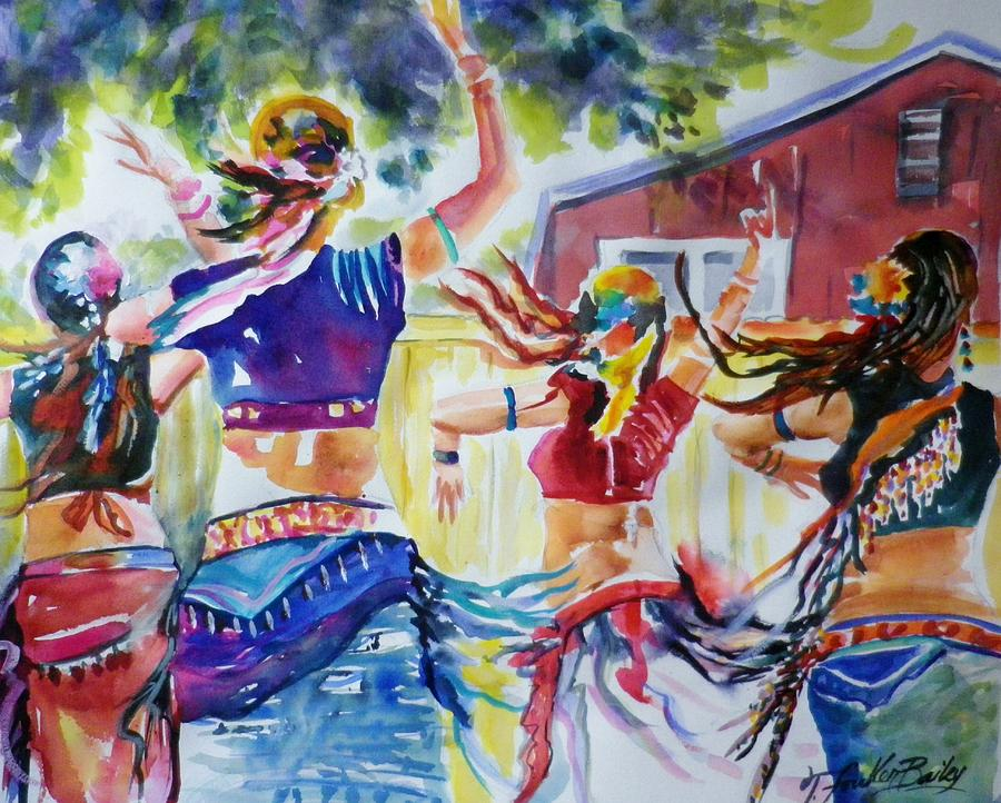 Belly Dancers Painting - Belly Dancers Delight Sold by Therese Fowler-Bailey