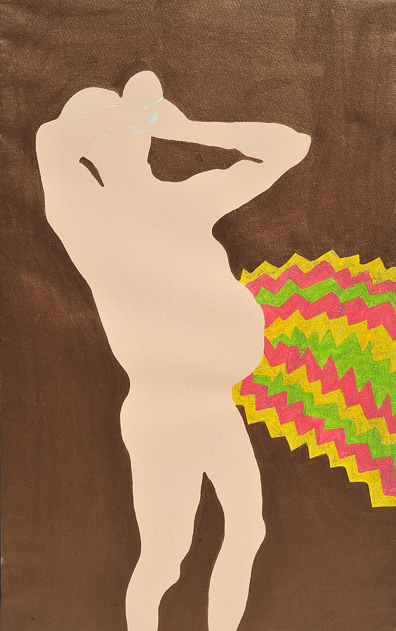 Male Nude Painting - Belly by Erika Chamberlin