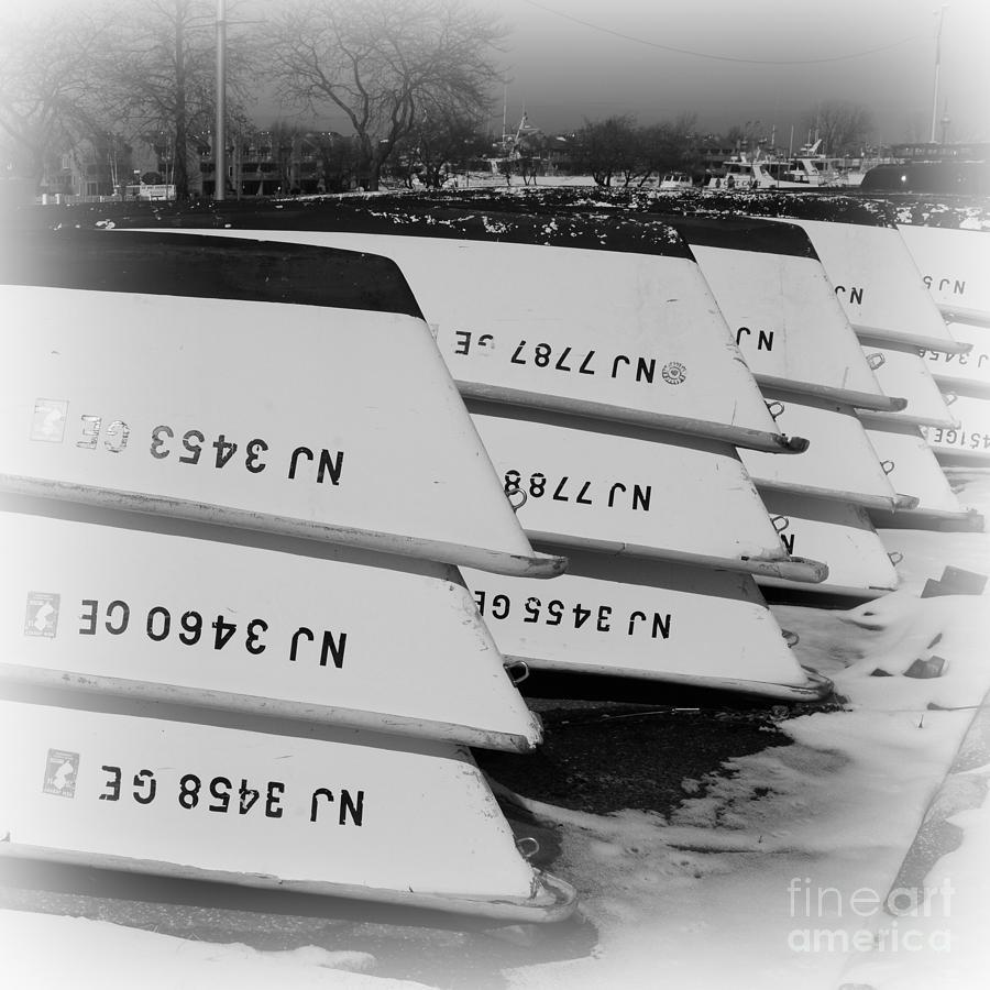 Paul Ward Photograph - Belmar Marina Rowboats by Paul Ward