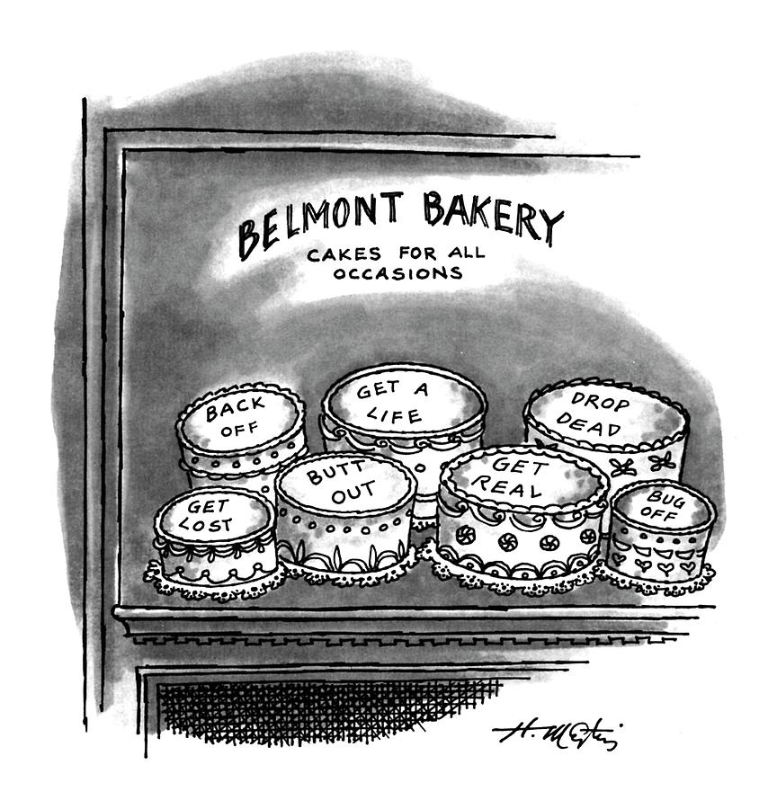 Belmont Bakery Cakes For All Occasions Drawing by Henry Martin