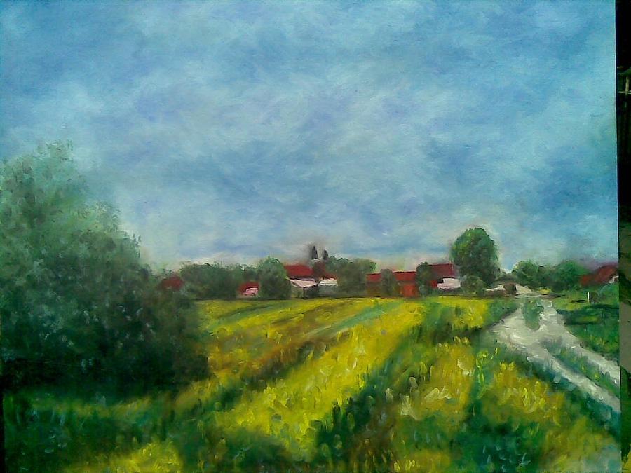 Landscape Painting - Belo Blato by Lazar Caran
