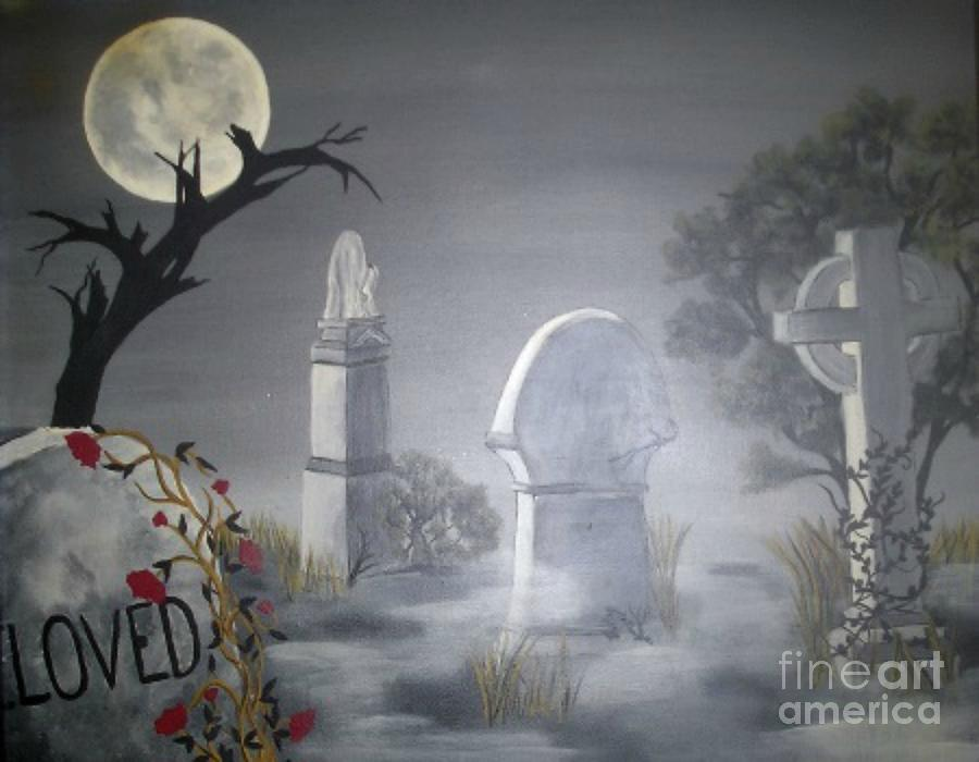 Cemetery Painting - Beloved by Ann LaMar