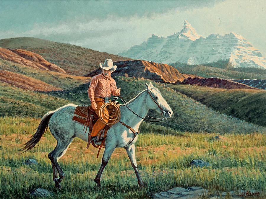 Horse Painting - Below Rams Horn   by Paul Krapf