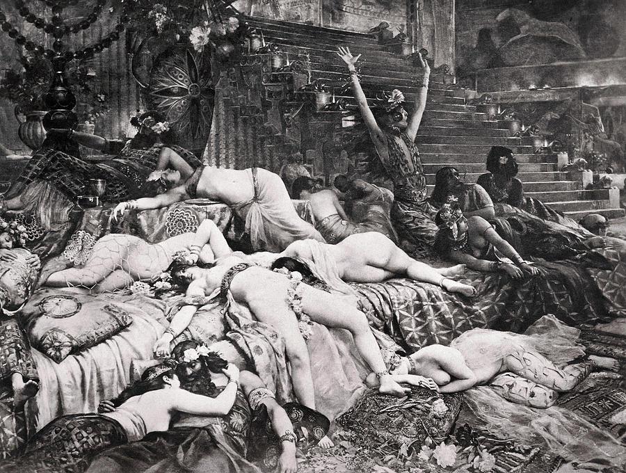 Ancient Photograph - Belshazzars Feast by Granger