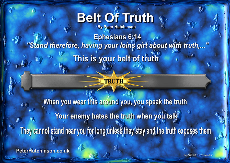Belt Of Truth Photograph By Bible Verse Pictures