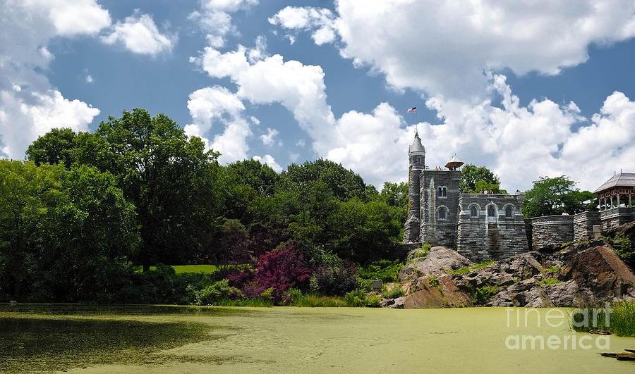 Algae Photograph - Belvedere Castle Turtle Pond Central Park by Amy Cicconi