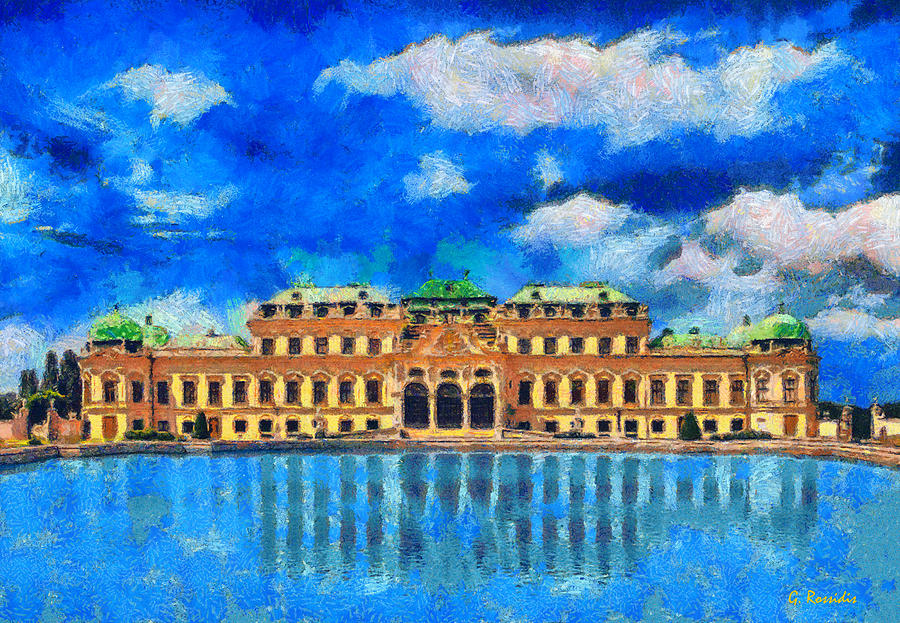 Rossidis Painting - Belvedere Palace by George Rossidis